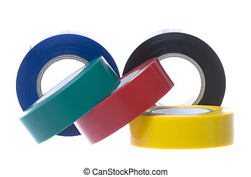 PVC Electrical Tapes Isolated