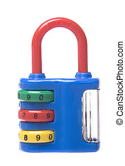 Combination Lock with Sharpener Isolated