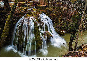 beautiful waterfall in Romania. waterfall Bigar