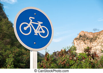 Bicycle lane sign