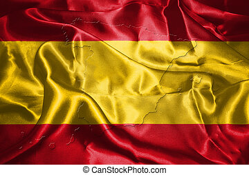 Spanish National Flag With Country Name Written On It 3D...