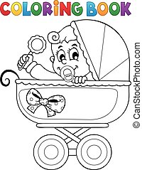 Coloring book baby theme image 5 - Coloring book baby theme...