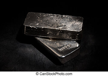 Silver bars - Two 1 kilogram 999 silver bars