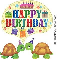 Happy birthday theme with turtles 1 - Happy birthday theme...