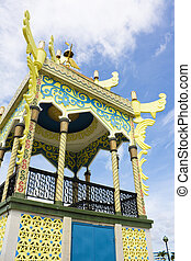 Brunei Architectural Style - Image of a section of the...
