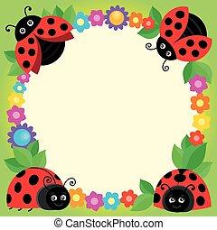 Stylized ladybugs theme image 3