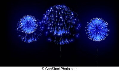 4K firework background. colorful fireckrackers at holiday night. different animation. version 11.