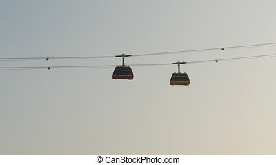 The ropeway in Ha Long the city. Vietnam.