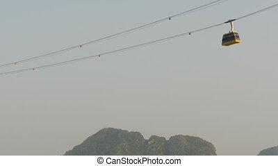 Cableway in Ha Long City Vietnam. - Cableway in Ha Long City...
