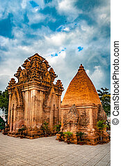 The towers of Po Nagar near Nha Trang in Vietnam. Towers...