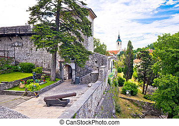 Old town of Trsat near Rijeka landmarks view, Primorje...