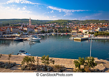Town of Supetar waterfront view, Dalmatia, Croatia