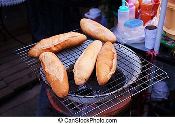 Toast - Columbian toast on the stove. Thailand