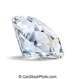 gorgeous diamond - Gorgeous diamond. 3d image. Isolated...