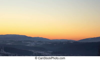 Sunset mountain ssun winter - sunset timelapse of mountain...
