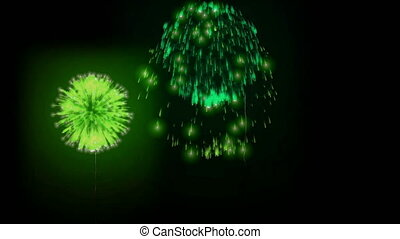 4K firework background. colorful fireckrackers at holiday night. different animation. version 16.