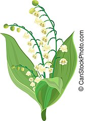 Lily Of The Valley icon. Vector illustration in flat design.