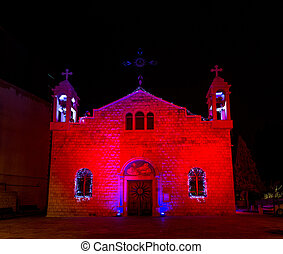 St. Elias cathedral of the melkite catholic, Christmas...