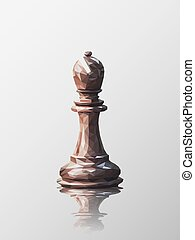 bishop low poly - Low poly 3d design of bishop chess piece....