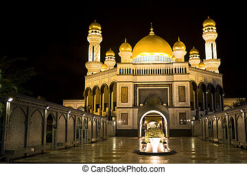 JameAsr Hassanil Bolkiah Mosque - Night image of JameAsr...