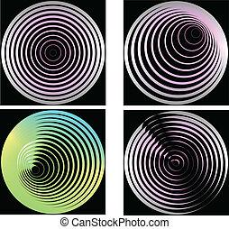 Set of abstract  circles. Vector i
