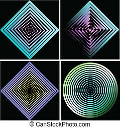 Set of abstract elements. Vector i
