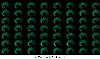 green rotation smoke pattern