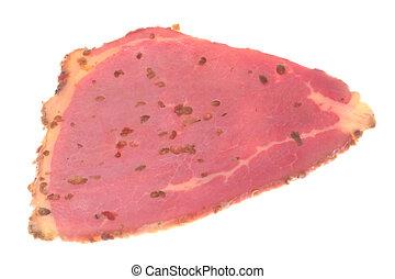 carne de vaca, pastrami, aislado