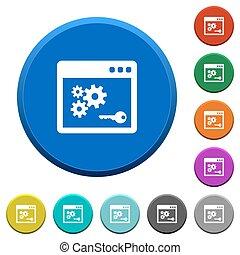 API key beveled buttons - API key round color beveled...