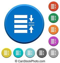 Adjust line spacing beveled buttons - Adjust line spacing...