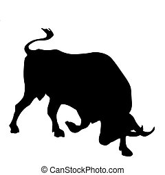 illustration of the oxen on white background