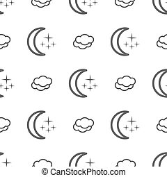 Weather seamless pattern