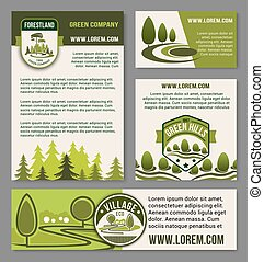 Landscape eco design service vector set