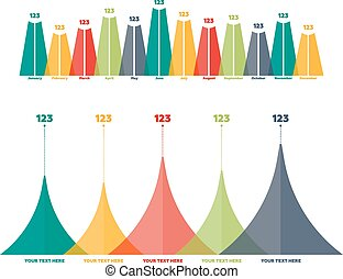 Infographics elements. Triangle bar chart