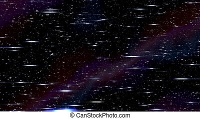 Space horizontal warp speed hyperspace travel through...