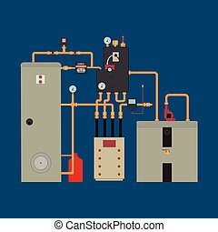 Heat pump, heating system - Equipment of the heat pump....