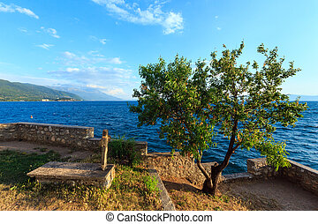 The grave of St. John at Kaneo, Ohrid. - The grave of St....
