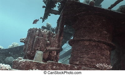 Parts of sunken ship Salem Express underwater in the Red Sea...