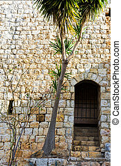Remnants of Crusader castle in Israel. The Yehiam Fortress,...