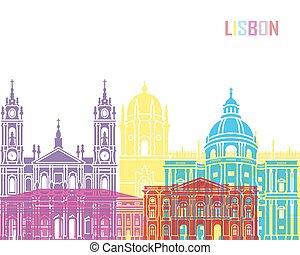 Lisbon V2 skyline pop in editable vector file