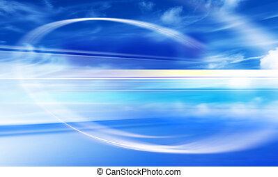 design with blue sky