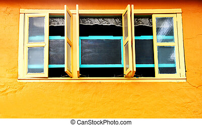 Shophouse window Kuching Sarawak Borneo - Old house window...