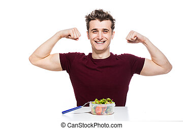 healthy food for strong people