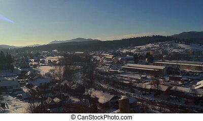 Village winter dawn panorama - Panorama Picturesque...