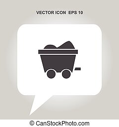 miner carts vector icon