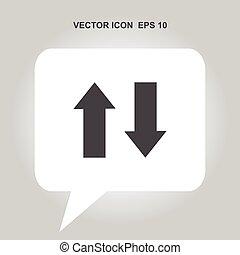 up down arrow vector icon