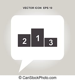 pedestal vector icon