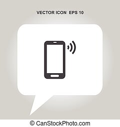mobile phone vector icon