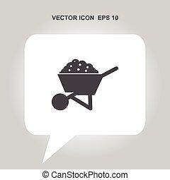 wheelbarrow vector icon