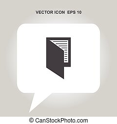 passport or visa vector icon
